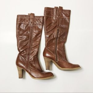 Marc Fisher Brown Leather Heeled Boots